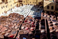 Chouara tannery in the Medina of Fes, Morocco